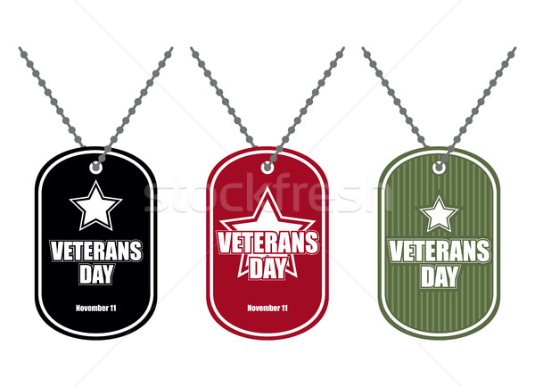 Set army badge. Soldier medallions of different colors. Logo for Stock photo © MaryValery