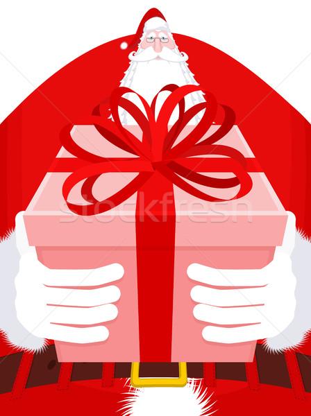 Kerstman lang groot reusachtig christmas grootvader Stockfoto © MaryValery