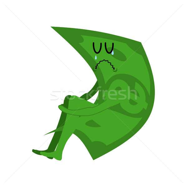 Sad money. sorrowful cash. Crying dollar. Sadness Finance Stock photo © MaryValery