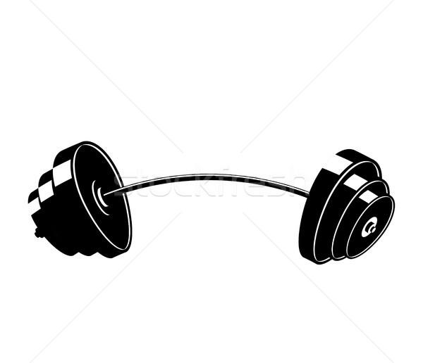 Barbell geïsoleerd fitness object witte trein Stockfoto © MaryValery