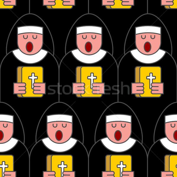 Monja católico religiosas mujer lineal Foto stock © MaryValery
