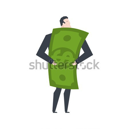 Money Mascot man promoter. Male in dollar costume handing out fl Stock photo © MaryValery