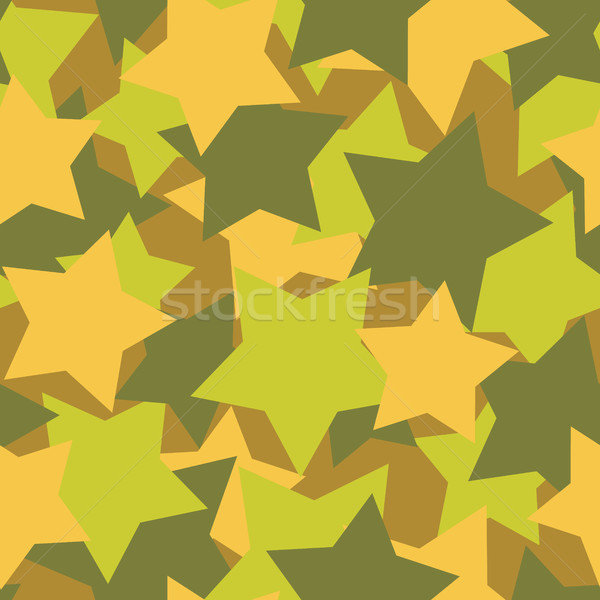 Military texture from stars. Army background vector. Protective  Stock photo © MaryValery