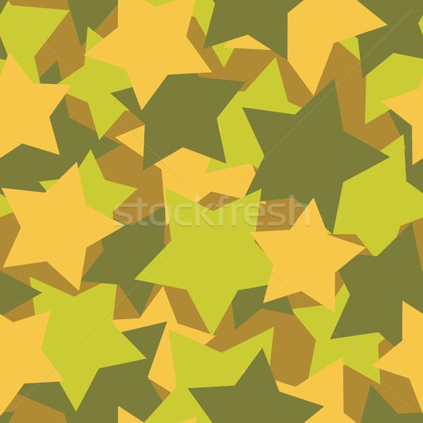 Militari texture stelle esercito vettore soldato Foto d'archivio © MaryValery