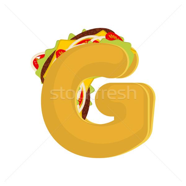 ストックフォト: 文字g · タコス · メキシコ料理 · ファストフード · フォント · タコス