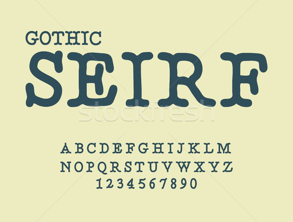 Serif . Gothic font. antique ABC. Traditional ancient manuscrip Stock photo © MaryValery