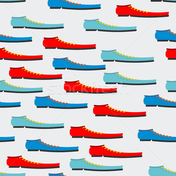 Trendy colorful shoes seamless pattern. Background of boot. Text Stock photo © MaryValery