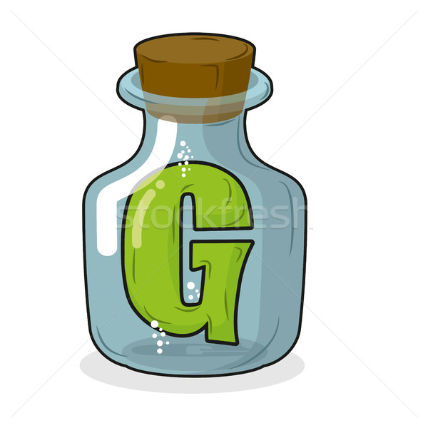 G in  bottle for scientific research. letter in a magical vessel Stock photo © MaryValery