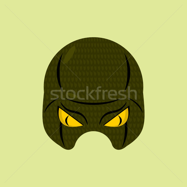 SuperHero mask snake. Reptile protective mask for person. Vector Stock photo © MaryValery