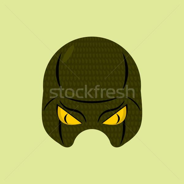Szuperhős maszk kígyó hüllő személy vektor Stock fotó © MaryValery