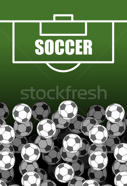 Soccer field and Ball. Lot of balls. football background. Sports Stock photo © MaryValery