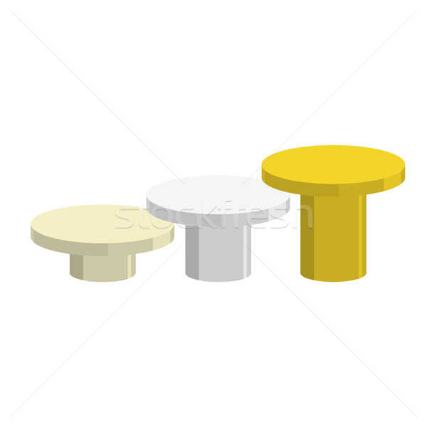 Sports Round pedestal fo winner. Prizes for achievement. Empty p Stock photo © MaryValery