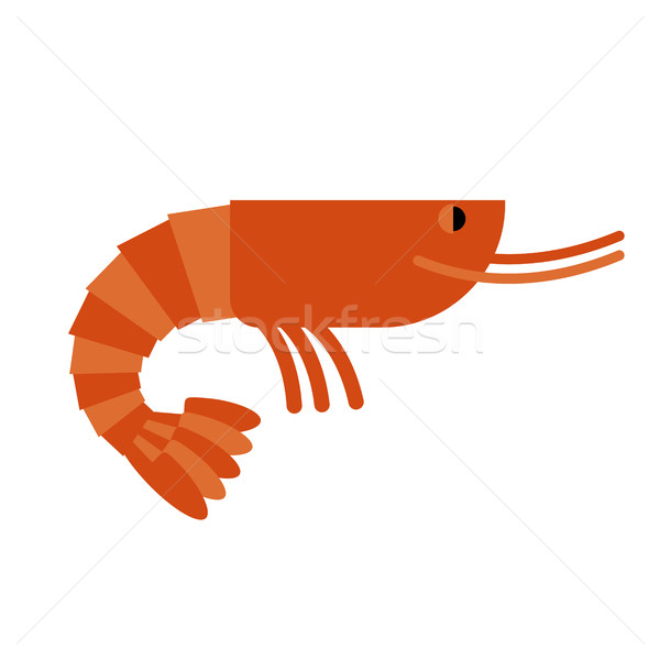 Shrimp. Marine cancroid. Boiled shrimp delicacy. Cooked Orange s Stock photo © MaryValery