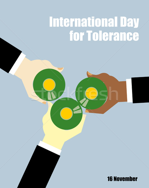 International Day for Tolerance. Toasting with beer. People of d Stock photo © MaryValery