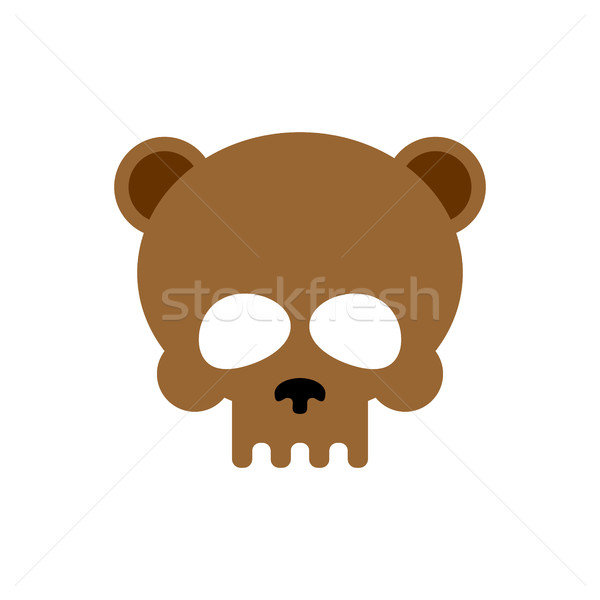 Bear skull isolated. Brown bears skeleton head  Stock photo © MaryValery