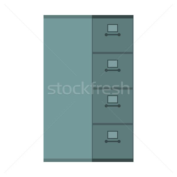 File Cabinet closed. Card index  Iron box for documents. Office  Stock photo © MaryValery