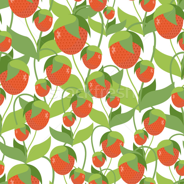 Fruit aardbei textuur vector Rood Stockfoto © MaryValery