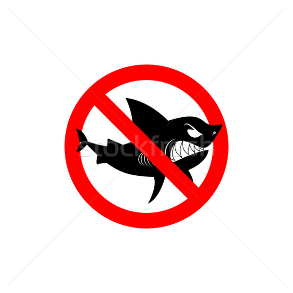 Sharks is prohibited. Shark ban. Area of water free from predato Stock photo © MaryValery