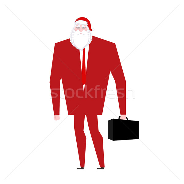Boss Дед Мороз ложный борода красный Cap Сток-фото © MaryValery