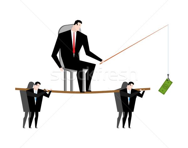бизнеса мотивация Boss доллара удочка Сток-фото © MaryValery