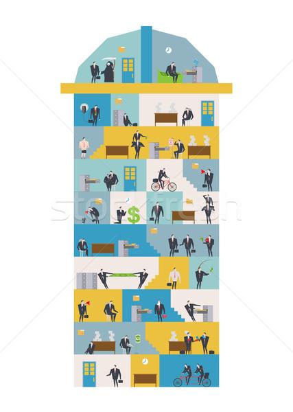 Kantoor leven corporate managers werkplek business Stockfoto © MaryValery