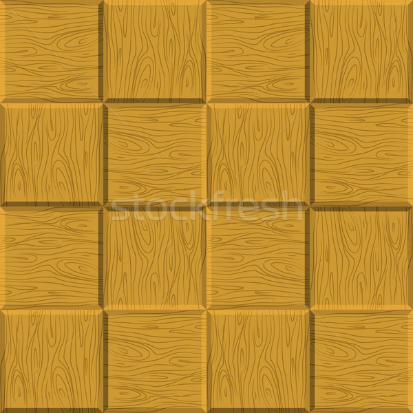 Seamless pattern wooden parquet. Vector wooden background. Decor Stock photo © MaryValery