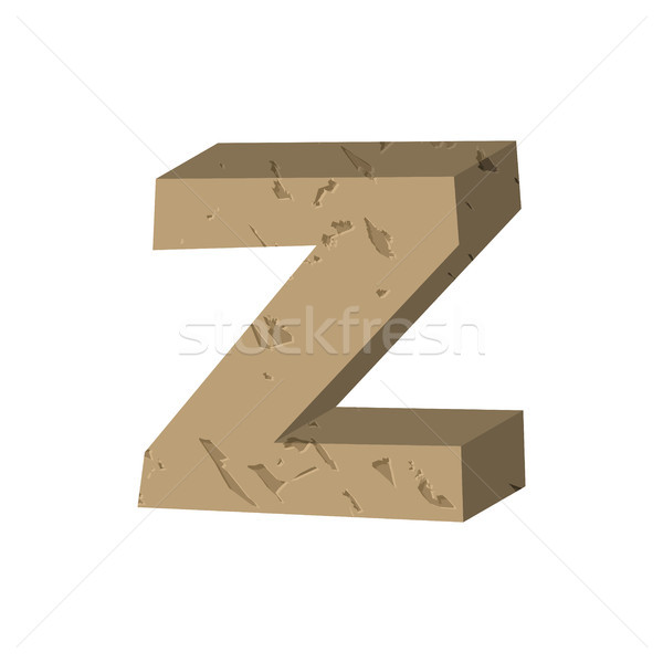 Letter Z stone font. Rock alphabet symbol. Stones crag ABC sign Stock photo © MaryValery