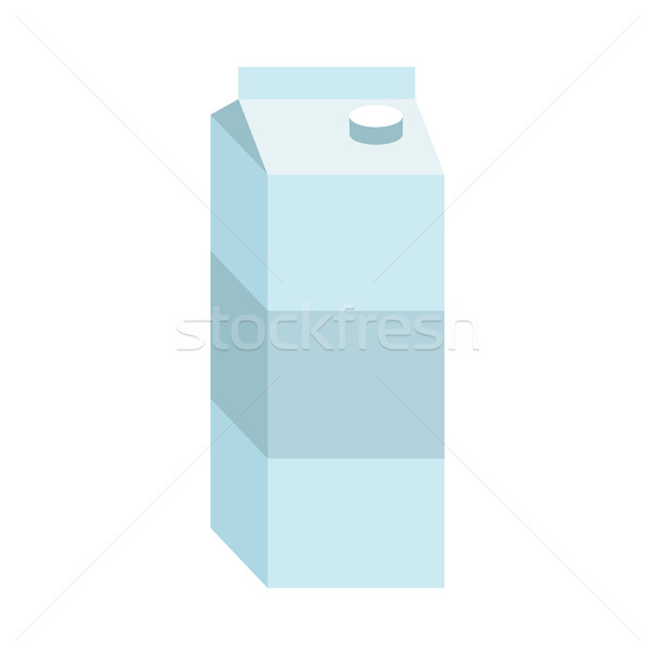 juice box. Paper packaging for milk isolated Stock photo © MaryValery
