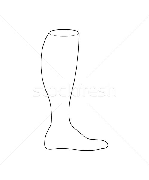 Football chaussettes design ligne style Photo stock © MaryValery