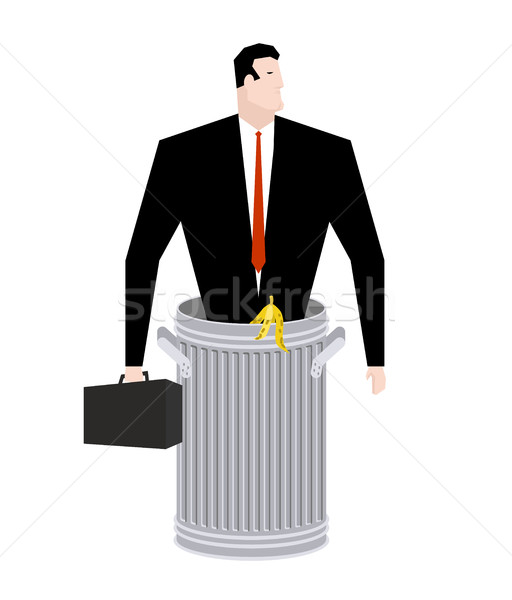 бизнесмен мусорное ведро бизнеса мусора галстук случае Сток-фото © MaryValery