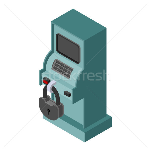 ATM is protected. Financial apparatus for issuing money and padl Stock photo © MaryValery
