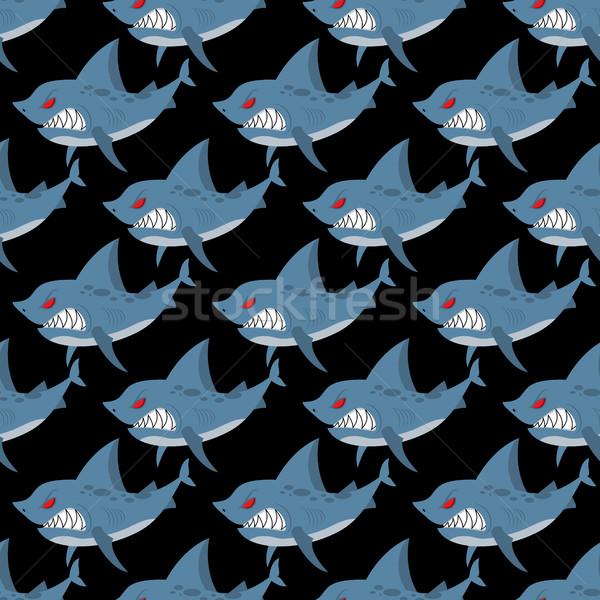 Tiburón muchos enojado marinos Foto stock © MaryValery