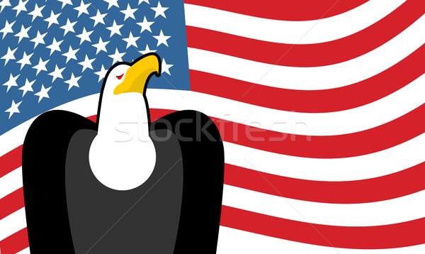 Bald Eagle and US flag. symbol of America. Patriotic illustratio Stock photo © MaryValery
