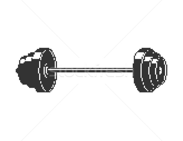 Barbell Pixel art. 8 bit sport object isolated Stock photo © MaryValery