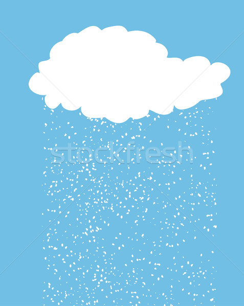 Cloud with snow. Snowfall isolated. Winter cloud Stock photo © MaryValery