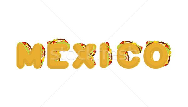 タコス 手紙 伝統的な メキシコ料理 ファストフード フォント ストックフォト © MaryValery