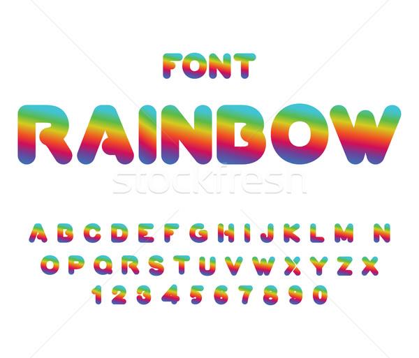 Arco-íris fonte cartas fantástico alfa Foto stock © MaryValery