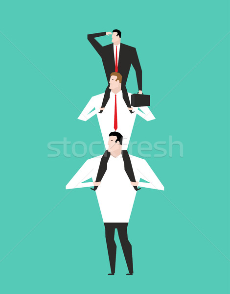 Office Hierarchy. Business pyramid. company structure. Boss sitt Stock photo © MaryValery