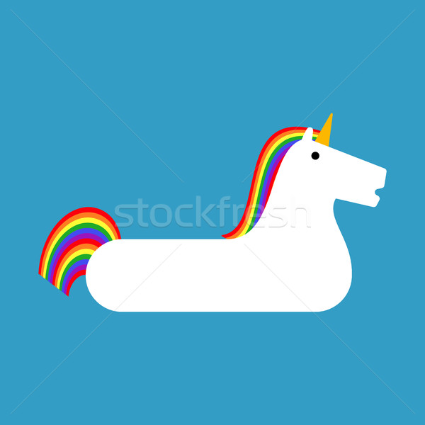 Inflatable unicorn isolated. Magic Beast Toy for swimming Stock photo © MaryValery