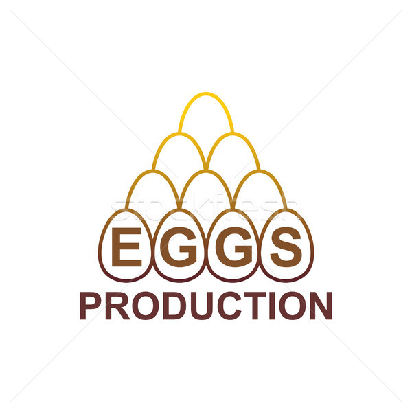 Eggs Production logo. Egg Farm emblem Stock photo © MaryValery