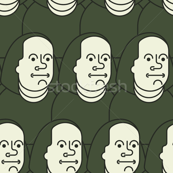 Benjamin Franklin seamless pattern on 100 dollars banknote USA Stock photo © MaryValery