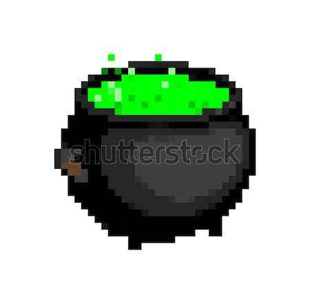 Tank pixel art. military machine is pixelatedl. Combat transport Stock photo © MaryValery