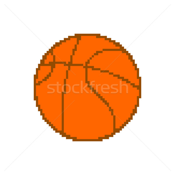 Basketball pixel art. pixelated ball isolated on white backgroun Stock photo © MaryValery