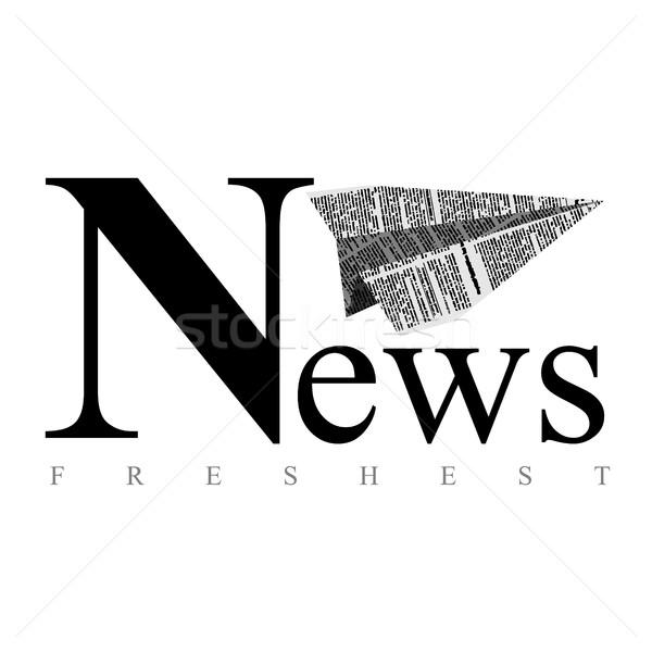 Płaszczyzny papieru logo gazety świeże wiadomości Zdjęcia stock © MaryValery
