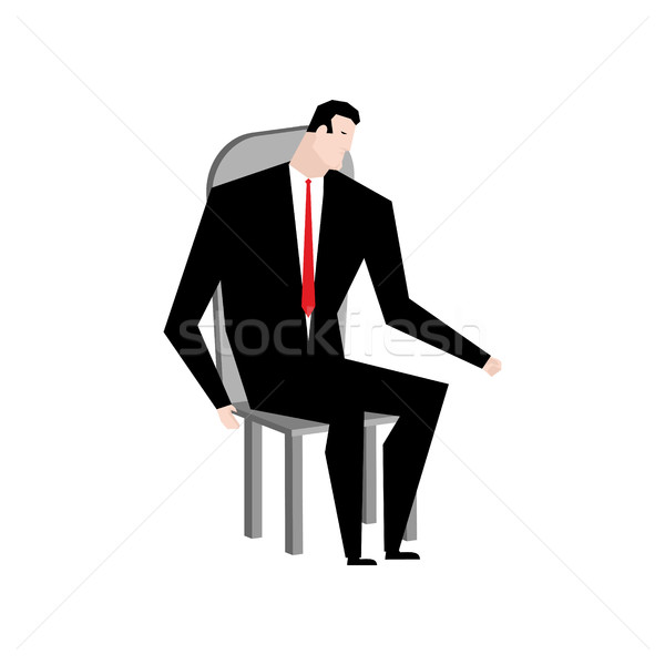 Businessman on chair. Boss in stool. Manager sitting on pew Stock photo © MaryValery