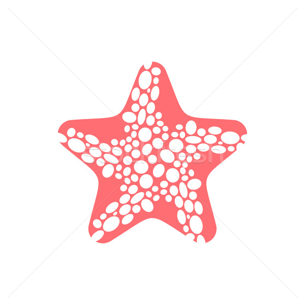 Tengeri csillag izolált tengeri állatok fehér vízi szépség Stock fotó © MaryValery