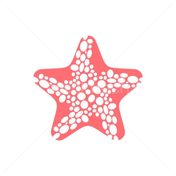 Starfish isolated. Sea animals on white background. aquatic moll Stock photo © MaryValery
