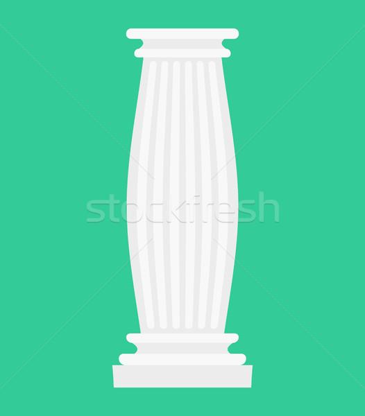 Grieks kolom geïsoleerd antieke post oude Stockfoto © MaryValery
