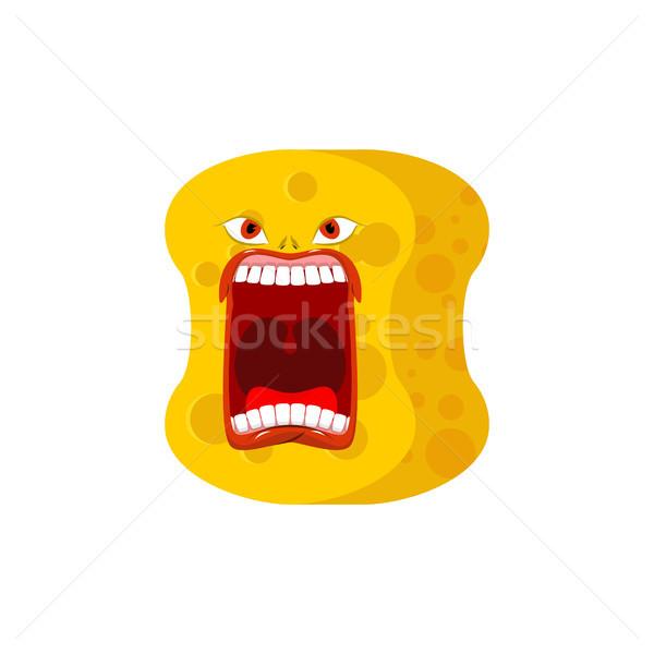 sponge emoji scream. Emotions shout yellow avatar sponge for cle Stock photo © MaryValery