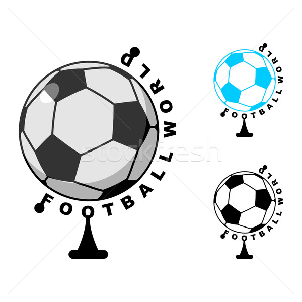 football World . Globe Soccer ball game. Sports accessory as ear Stock photo © MaryValery